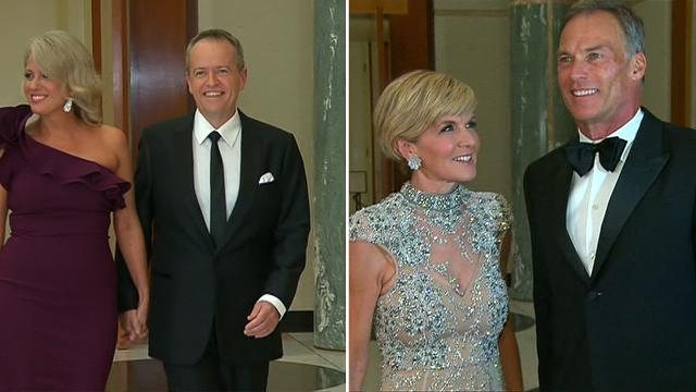 Politicians and reporters glam up for Mid Winter Ball in Canberra - 9news.com.au