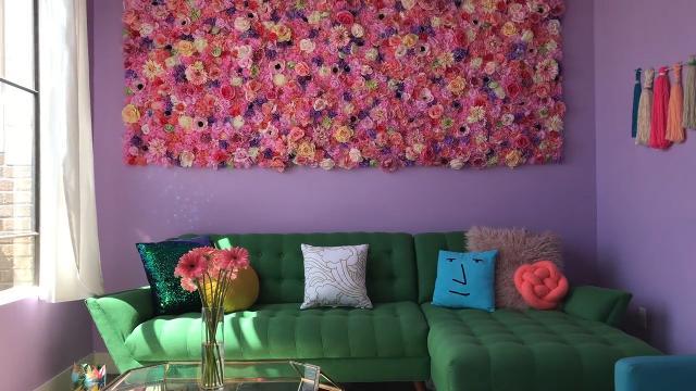 Amina Mucciolo creates rainbow apartment