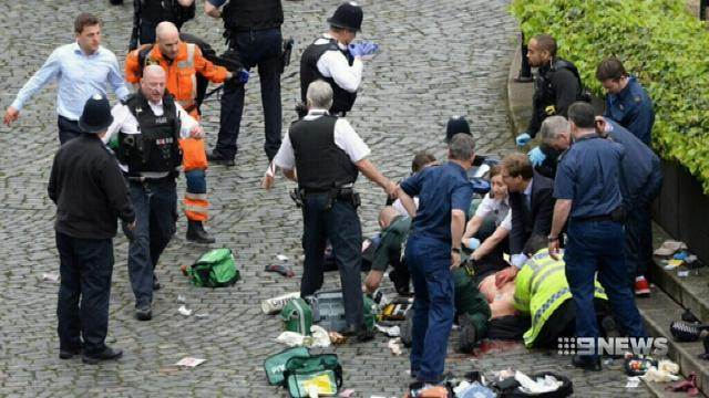 BBC captures moment London terror suspect was rushed into emergency room