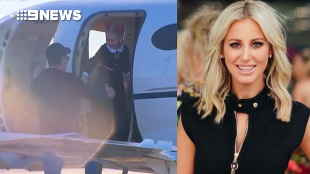 Roxy Jacenko's husband walks free from jail, gets into private jet