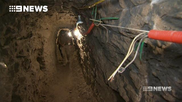 Inside the drug running tunnels between the US and Mexico