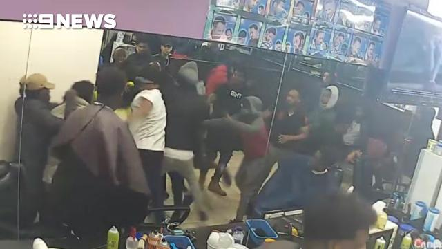 Patrons attacked as violent brawl breaks out in Melbourne barber shop