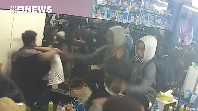 Gang storms barber shop and attacks patrons in all-in brawl