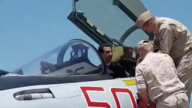 9RAW: Syria's Assad visits Russian airbase