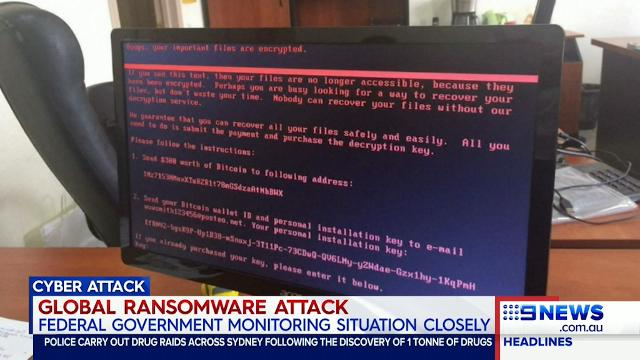 Global ransomware attack hits Hobart