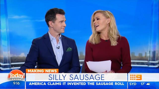 Today hosts fired up about America's claim to sausage roll