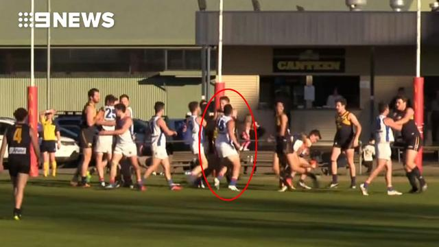 AFL diversity chief filmed landing brutal punch on football field