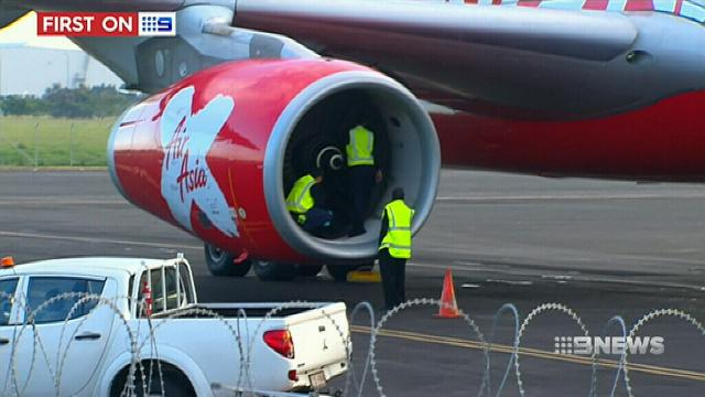 AirAsia flight grounded after apparent bird strike damages engine