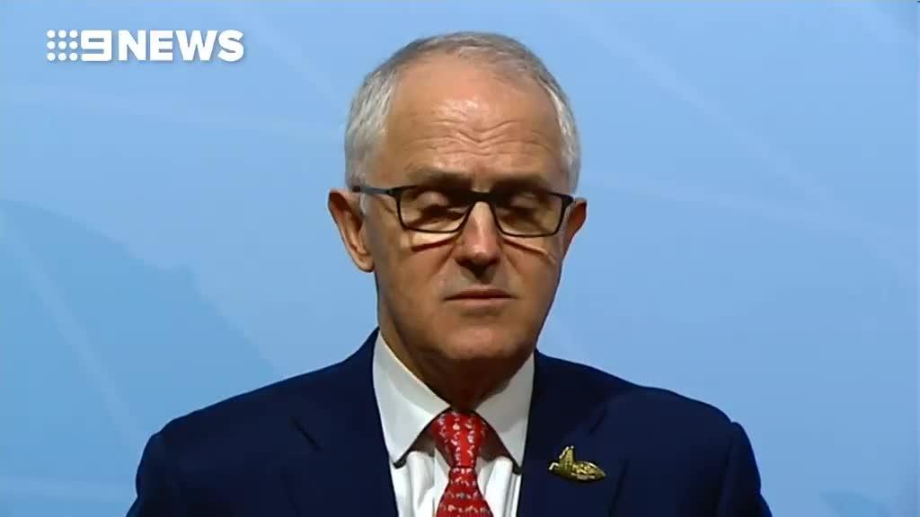 PM Turnbull: 'When Britain is attacked we feel attacked too'