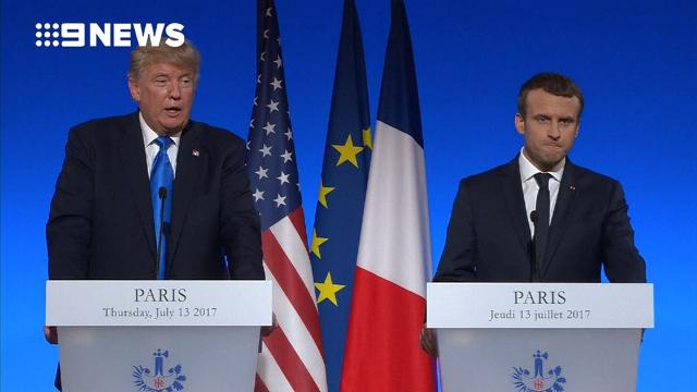 9RAW: Trump says 'something could happen' with Paris Accord
