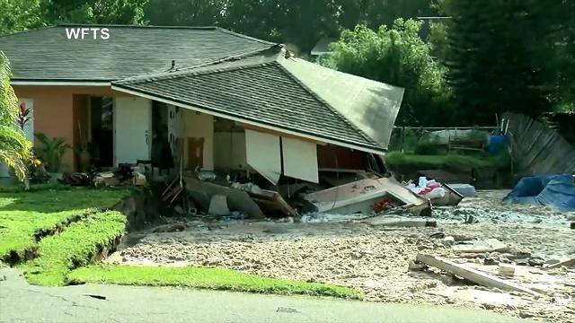 Florida sinkhole swallows 2 homes, boat