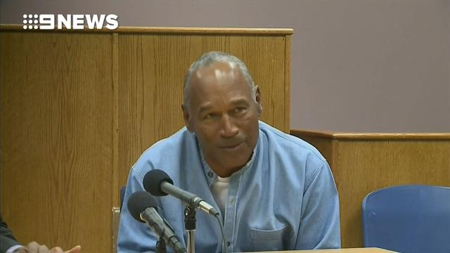 O.J. Simpson overcome with emotion after being granted parole
