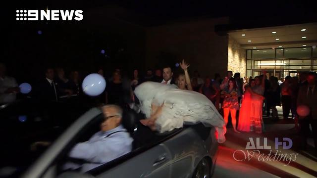 9RAW: Newlyweds thrown from convertible