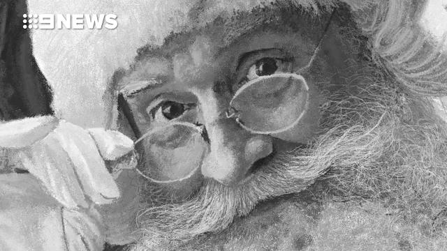 Unbelievable Microsoft Paint drawing of Santa Claus