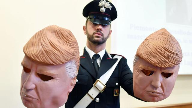 Brothers rob 20 cash machines in Italy donning Trump masks