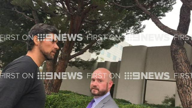 Mark Philippoussis confronted after dad's arrest