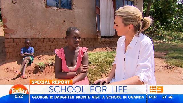 Georgie Gardner's Uganda trip with daughter Bronte
