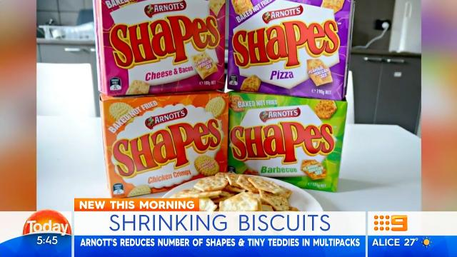 Today hosts outraged over shrinking Arnott's biscuit packs