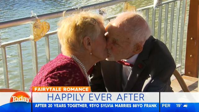 Elderly couple marry after 20 years