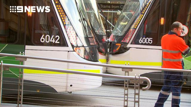 Two trams have collided in Melbourne's CBD
