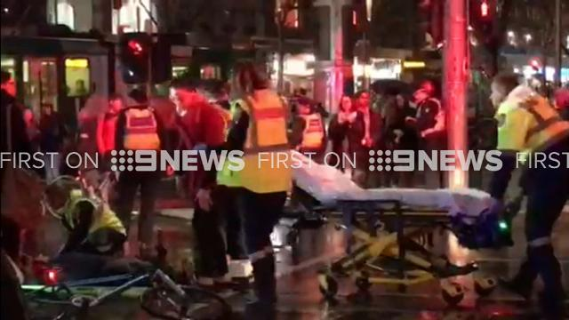 Woman arrested over double hit-and-run outside Melbourne cathedral