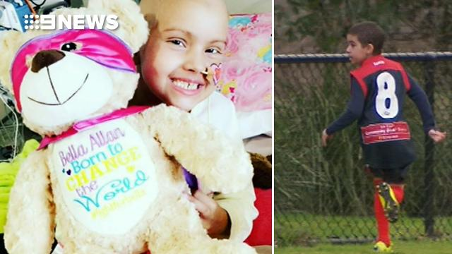 Eight-year-old terminal cancer patient's football wish comes true