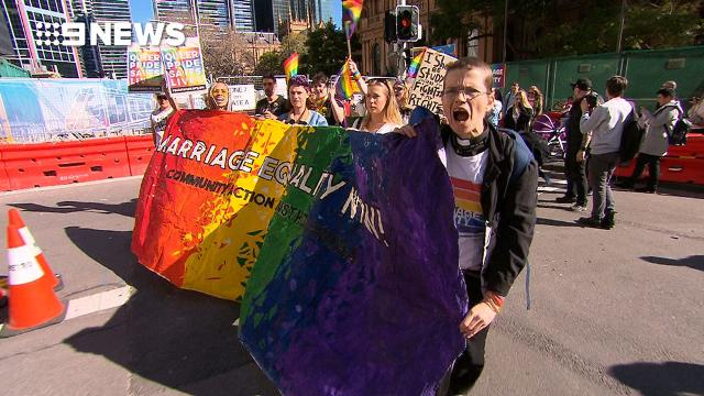 Same-sex marriage rally hits Sydney streets