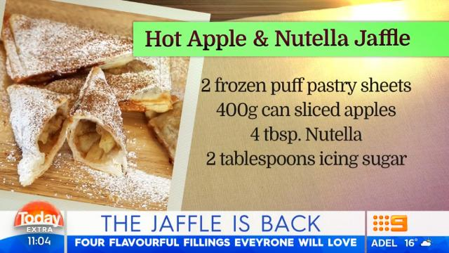Puff pastry jaffle is the winter dessert hack you never knew you needed