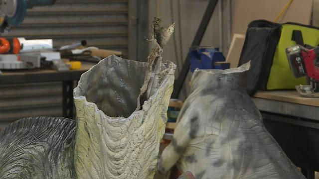 Three dinosaurs beheaded 'with angle grinder' at Australian museum