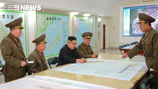 North Korea leader reviews Guam attack plan