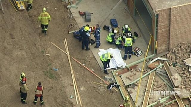 One man dead and another injured after two separate wall collapses in Sydney