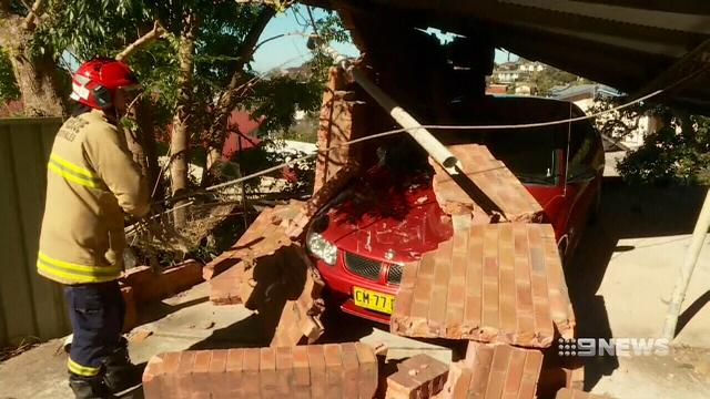 Cyclone-strength winds cause widespread damage across Sydney
