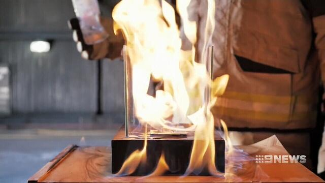 Decorative ethanol burners removed from shops under nation-wide ban
