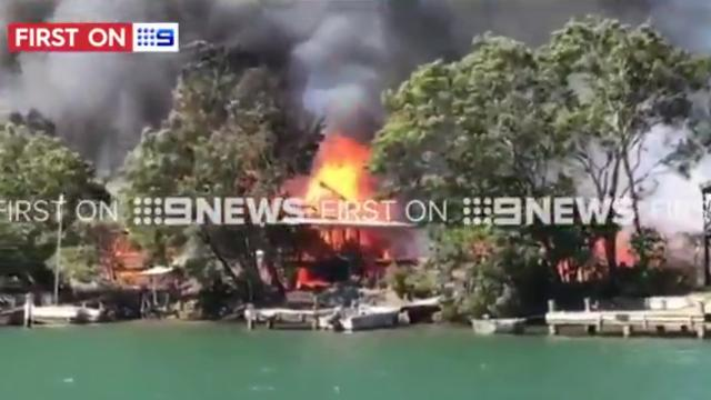 Fire engulfs numerous homes in Noosa