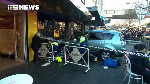 At least six people injured after car drives into crowd in Sydney