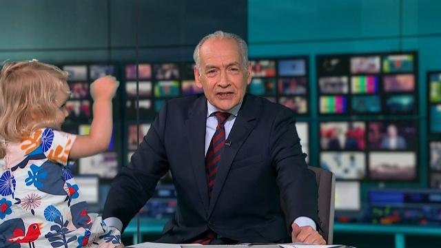 ITV News anchor Alastair Stewart upstaged by toddler in live interview