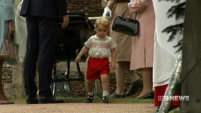 Britain's Prince George heads off for first day of school