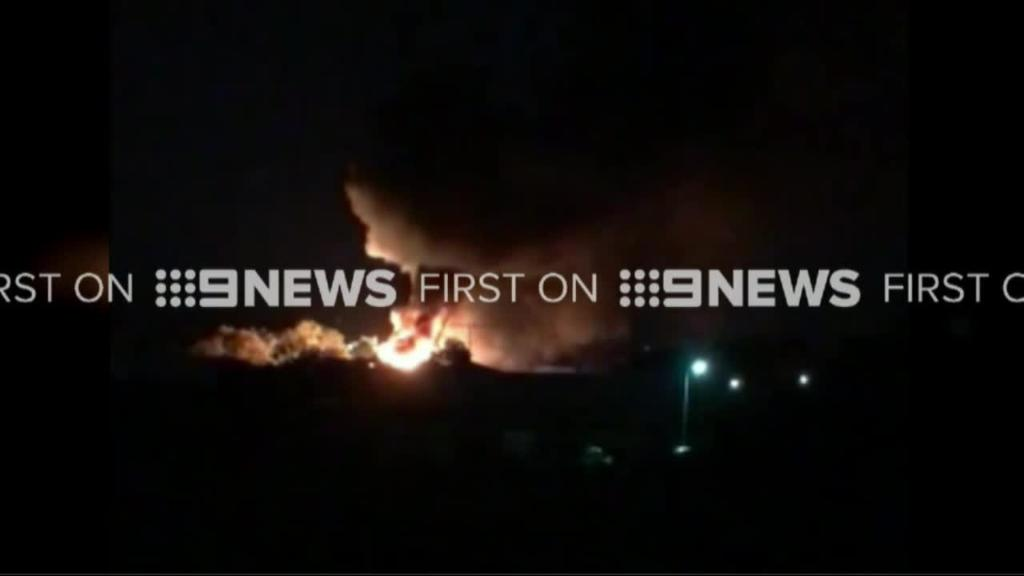 Fire rips through Geelong petrol depot