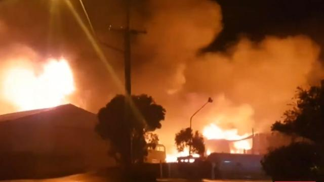 Homes evacuated after massive explosion near Geelong