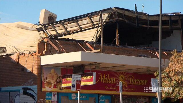 Seven Hills shopping complex at risk of collapse after fire