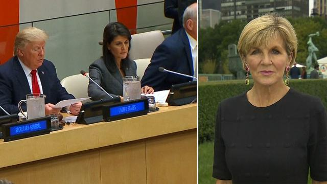 'Time and pressure' key to solving North Korea crisis: Julie Bishop