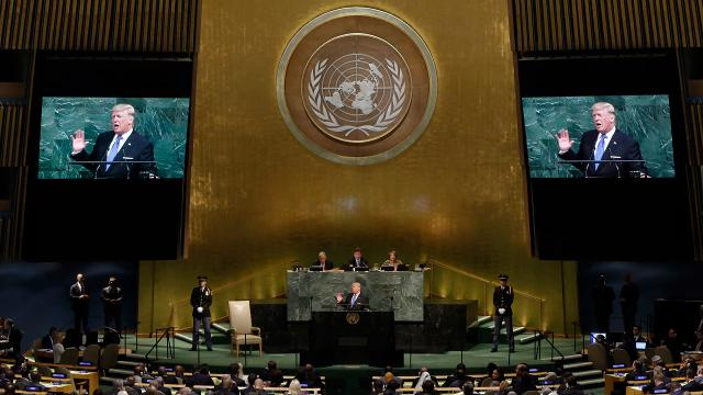 Donald Trump's first address to the United Nations General Assembly