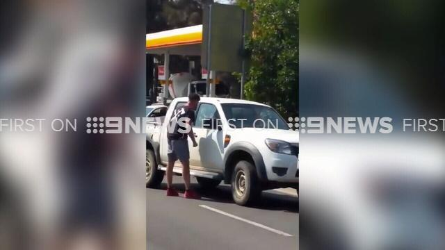 Man breaks ute mirror in road rage rampage