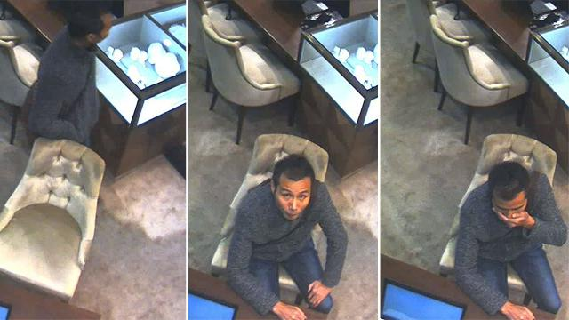 CCTV shows diamond theft suspect