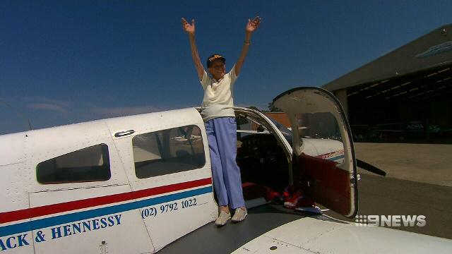 Female pilot celebrates 100th birthday