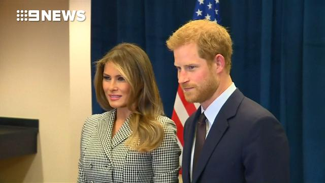 Melania Trump meets Prince Harry to praise Invictus Games 'heroes'