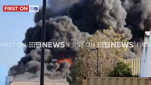 Huge plumes of smoke at Brisbane workshop fire