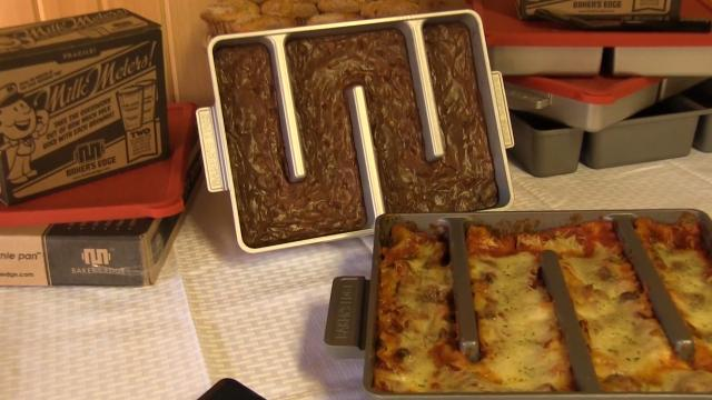 Couple invent lasagne pan where every piece is an edge bit