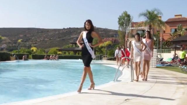 VIDEO: Miss Universe contestant twirls too damn hard next to pool
